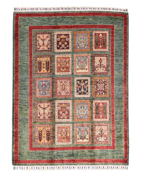 Handgeknüpfter Shawl Teppich aus Ghazni Wolle - Pir Mahal - 130x167cm