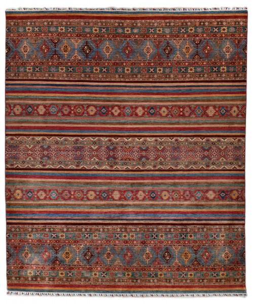 Handgeknüpfter Shawl Teppich aus Ghazni Wolle - Pir Mahal - 256x306cm