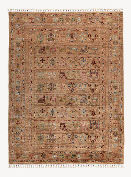 Handgeknüpfter Shawl Teppich aus Ghazni Wolle - Pir Mahal - 156x204 cm