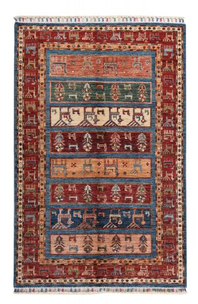 Handgeknüpfter Shawl Teppich aus Ghazni Wolle - Pir Mahal - 102x155cm