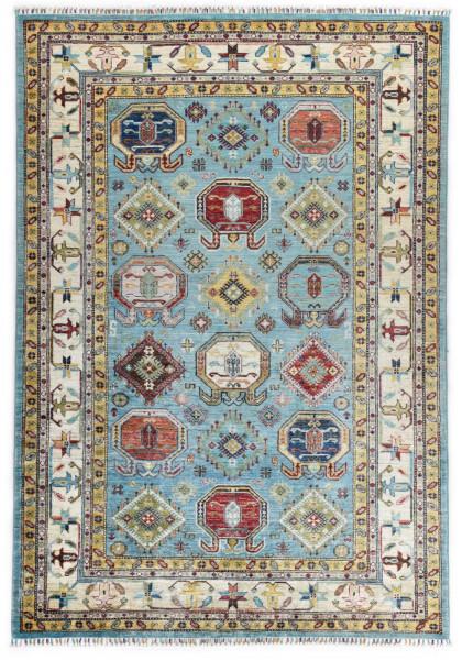 Handgeknüpfter Shawl Teppich aus Ghazni Wolle - Pir Mahal - 174x253cm
