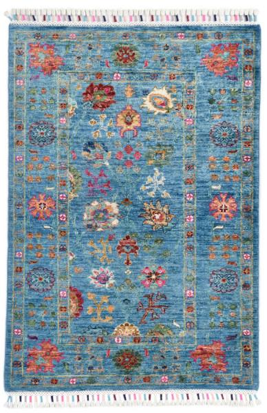 Handgeknüpfter Shawl Teppich aus Ghazni Wolle - Pir Mahal - 81 x 119 cm