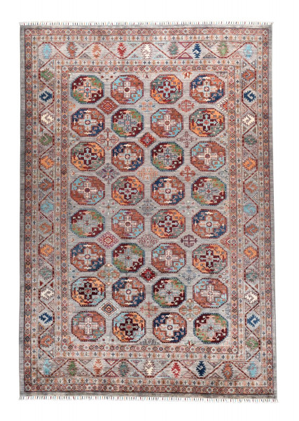 Handgeknüpfter Shawl Teppich aus Ghazni Wolle - Pir Mahal - 198x297cm