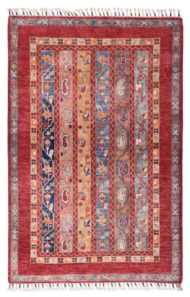 Handgeknüpfter Shawl Teppich aus Ghazni Wolle - Pir Mahal - 100x150cm