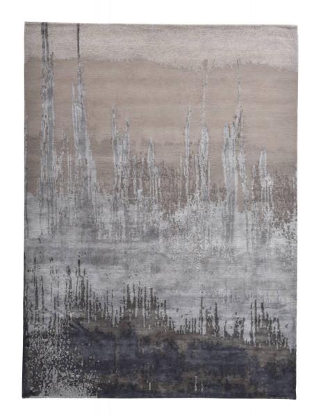 Designerteppich aus robuster Seide und Tibetwolle - Sweet Feet 60 - 175x241cm