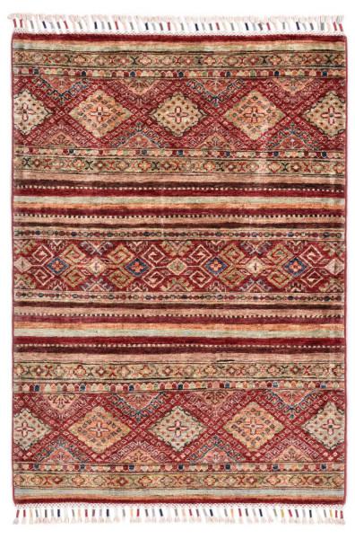 Handgeknüpfter Shawl Teppich aus Ghazni Wolle - Pir Mahal - 84 x 119 cm