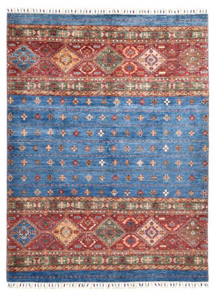 Handgeknüpfter Shawl Teppich aus Ghazni Wolle - Pir Mahal - 152 x 200 cm