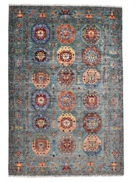 Handgeknüpfter Shawl Teppich aus Ghazni Wolle - Pir Mahal - 212x246cm