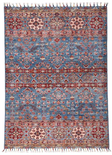 Handgeknüpfter Shawl Teppich aus Ghazni Wolle - Pir Mahal - 107x143cm
