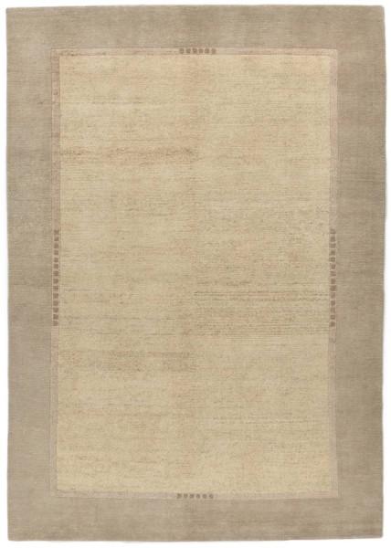 Handgeknüpfter Designerteppich Wolle/Nessel - FINE NATURE - 157 x 234 cm