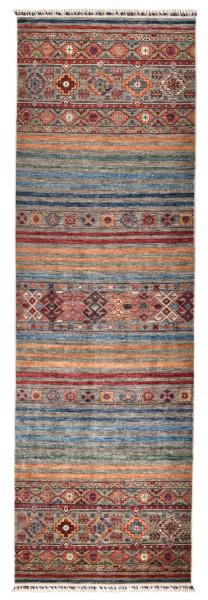 Handgeknüpfter Shawl Teppich aus Ghazni Wolle - Pir Mahal - 88x282cm