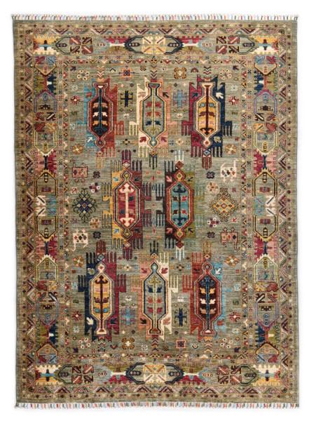 Handgeknüpfter Shawl Teppich aus Ghazni Wolle - Pir Mahal - 152x208cm