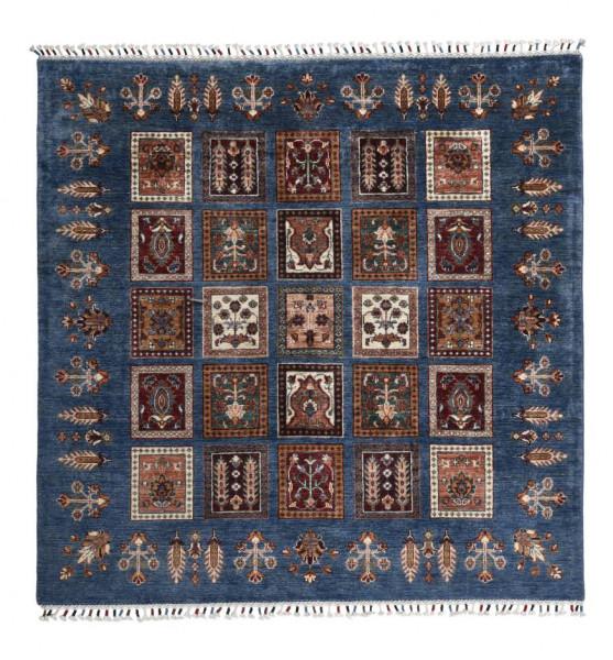 Handgeknüpfter Shawl Teppich aus Ghazni Wolle - Pir Mahal - 160x159 cm