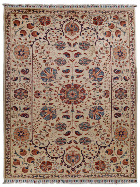 Handgeknüpfter Shawl Teppich aus Ghazni Wolle - Pir Mahal - 159x233cm