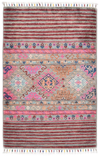 Handgeknüpfter Shawl Teppich aus Ghazni Wolle - Pir Mahal - 60 x 91 cm