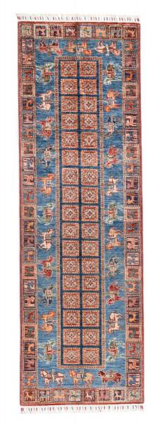 Handgeknüpfter Shawl Teppich aus Ghazni Wolle - Pir Mahal - 86 x 268 cm