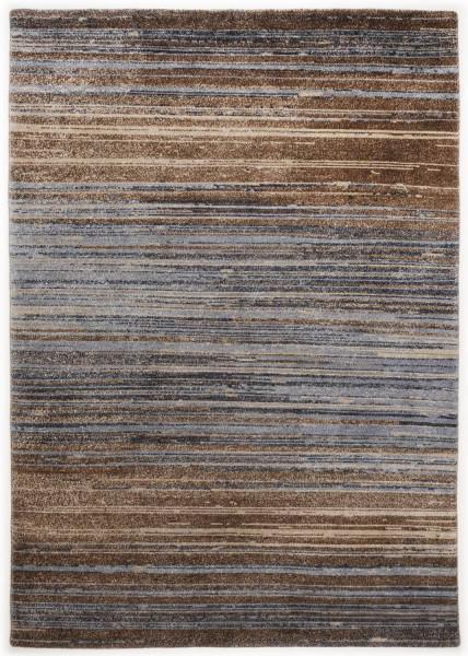 Handgeknüpfter Designerteppich Wolle/Nessel - FINE NATURE - 160x227cm