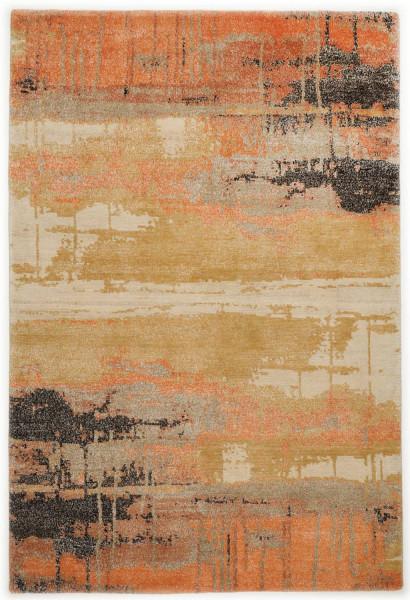 Handgeknüpfter Designerteppich Wolle/Nessel - FINE NATURE - 170x240cm