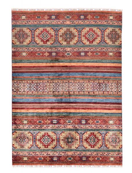 Handgeknüpfter Shawl Teppich aus Ghazni Wolle - Pir Mahal - 174x242cm