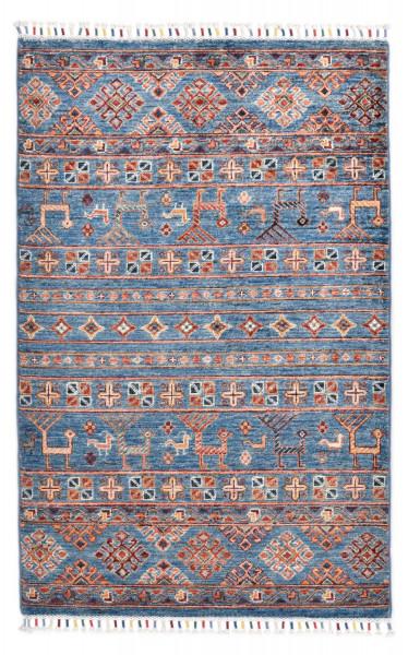 Handgeknüpfter Shawl Teppich aus Ghazni Wolle - Pir Mahal - 90 x 145 cm