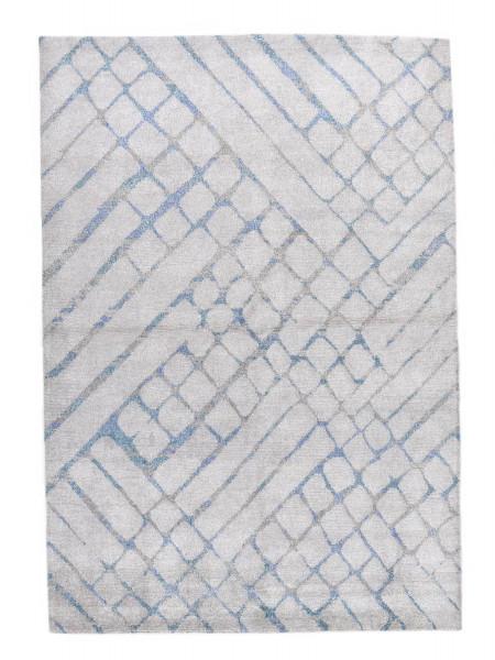Handgeknüpfter Designerteppich Wolle/Nessel - FINE NATURE - 160x231cm