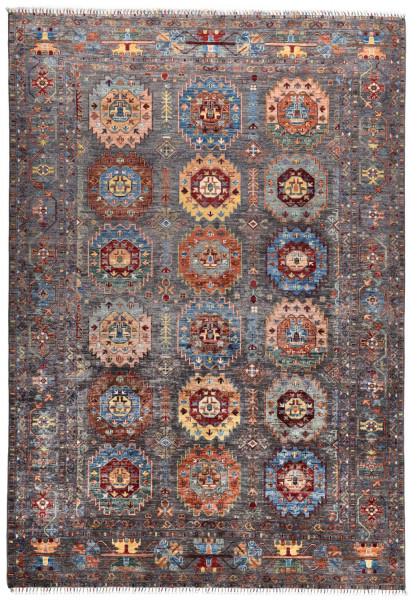 Handgeknüpfter Shawl Teppich aus Ghazni Wolle - Pir Mahal - 214x301cm