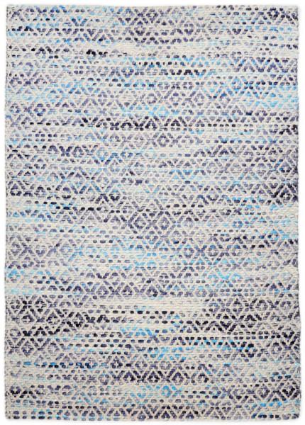 Handwebteppich mit besonderem Farbspiel - Tom Tailor - Smooth Comfort - Diamond - Wendeteppich