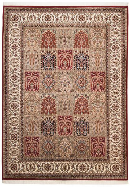 Orientteppich - Sirsa Silk - Baktyari N - handgeknüpft aus Schurwolle und Seide mit Fransen