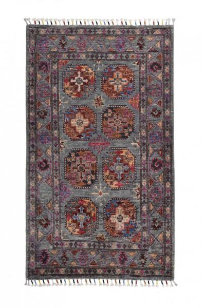 Handgeknüpfter Shawl Teppich aus Ghazni Wolle - Pir Mahal - 79x137 cm