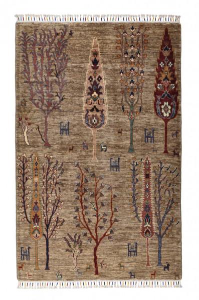 Handgeknüpfter Shawl Teppich aus Ghazni Wolle - Pir Mahal - 106x168 cm