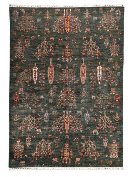 Handgeknüpfter Shawl Teppich aus Ghazni Wolle - besonders fein - Legacy - 208x294cm
