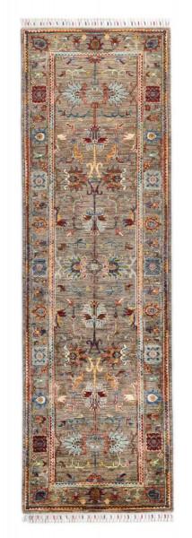 Handgeknüpfter Shawl Teppich aus Ghazni Wolle - Pir Mahal - 82x264cm