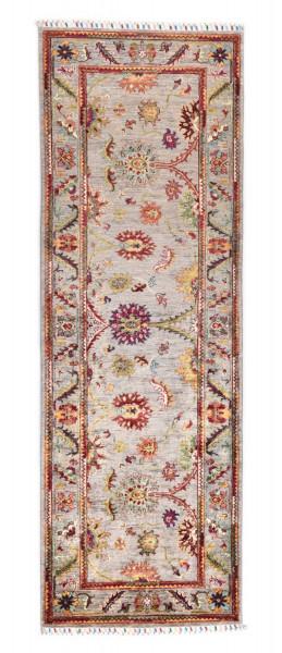 Handgeknüpfter Shawl Teppich aus Ghazni Wolle - Pir Mahal - 80x250cm