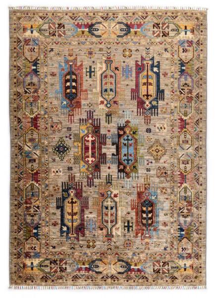 Handgeknüpfter Shawl Teppich aus Ghazni Wolle - Pir Mahal - 172x234cm