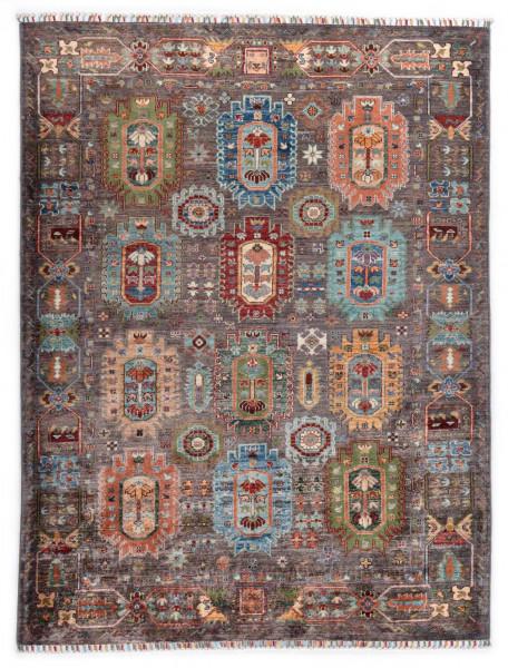 Handgeknüpfter Shawl Teppich aus Ghazni Wolle - Pir Mahal - 156x207cm