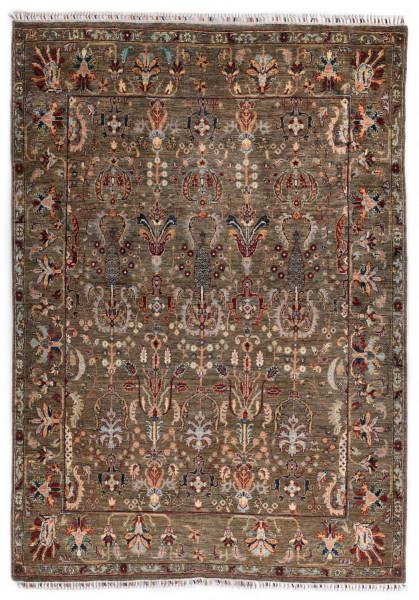 Handgeknüpfter Shawl Teppich aus Ghazni Wolle - Pir Mahal - 195 x 280 cm
