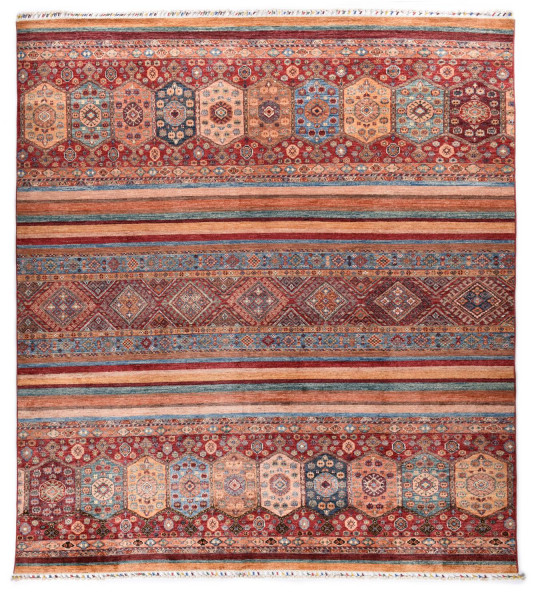 Handgeknüpfter Shawl Teppich aus Ghazni Wolle - Pir Mahal - 240x300cm