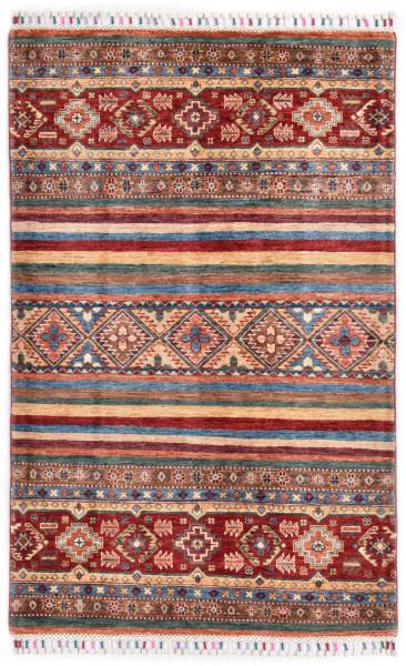 Handgeknüpfter Shawl Teppich aus Ghazni Wolle - Pir Mahal - 103 x 160 cm