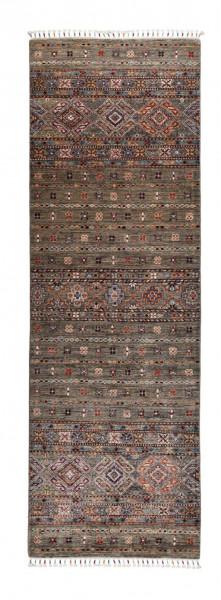 Handgeknüpfter Shawl Teppich aus Ghazni Wolle - Pir Mahal - 84x261 cm