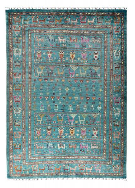 Handgeknüpfter Shawl Teppich aus Ghazni Wolle - Pir Mahal - 155x219cm