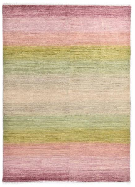 Handegknüpfter moderner Gabbeh Teppich - Rainbow - 146x196cm