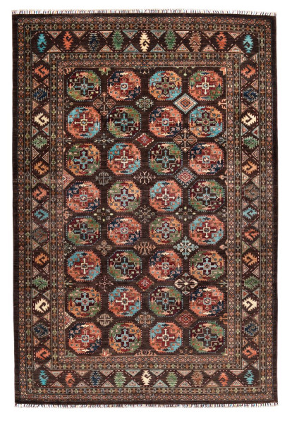 Handgeknüpfter Shawl Teppich aus Ghazni Wolle - Pir Mahal - 204x303cm