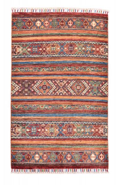 Handgeknüpfter Shawl Teppich aus Ghazni Wolle - Pir Mahal - 80x120cm