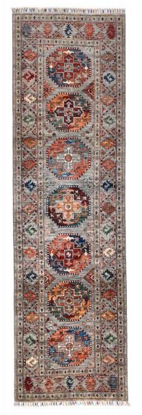 Handgeknüpfter Shawl Teppich aus Ghazni Wolle - Pir Mahal - 84x282cm