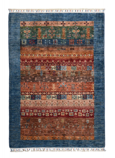 Handgeknüpfter Shawl Teppich aus Ghazni Wolle - Pir Mahal - 105x146 cm