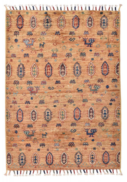 Handgeknüpfter Shawl Teppich aus Ghazni Wolle - Pir Mahal - 65x89cm