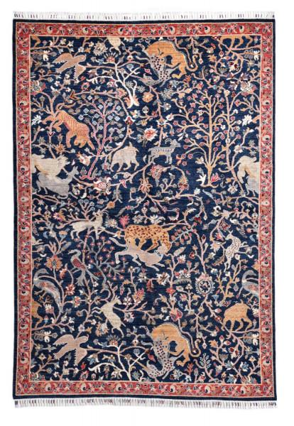 Handgeknüpfter Shawl Teppich aus Ghazni Wolle - Pir Mahal - 185x267cm