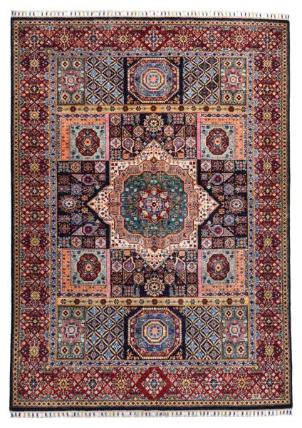 Handgeknüpfter Shawl Teppich aus Ghazni Wolle - besonders fein - Legacy - 181x248cm