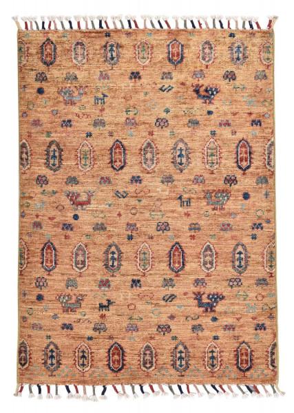 Handgeknüpfter Shawl Teppich aus Ghazni Wolle - Pir Mahal - 64x89cm