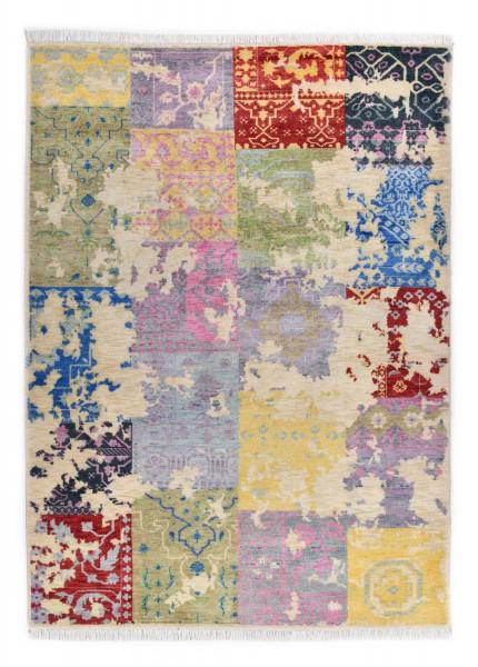 Handgeknüpfter Wollteppich - Vintage Patch - P21 - 174x237cm